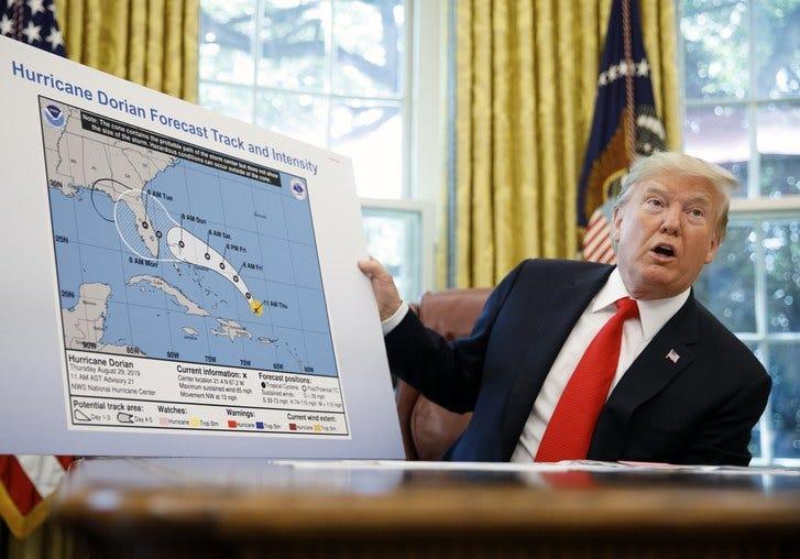 Image result for Trump sharpie