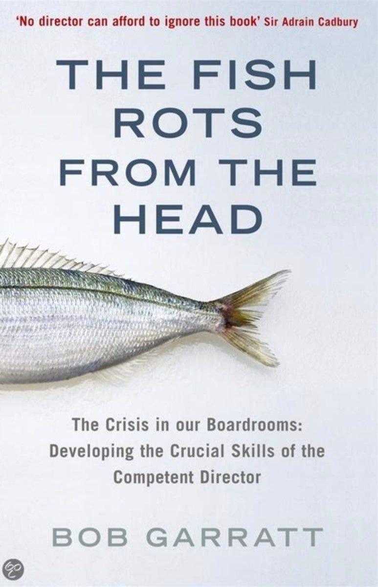 """Vijaya Nath sur Twitter : """".Doing some interesting work  #ContemplativeSpaces & remembering this very useful book - as the Chinese  proverb says 'The fish rots from the head' and so it is"""