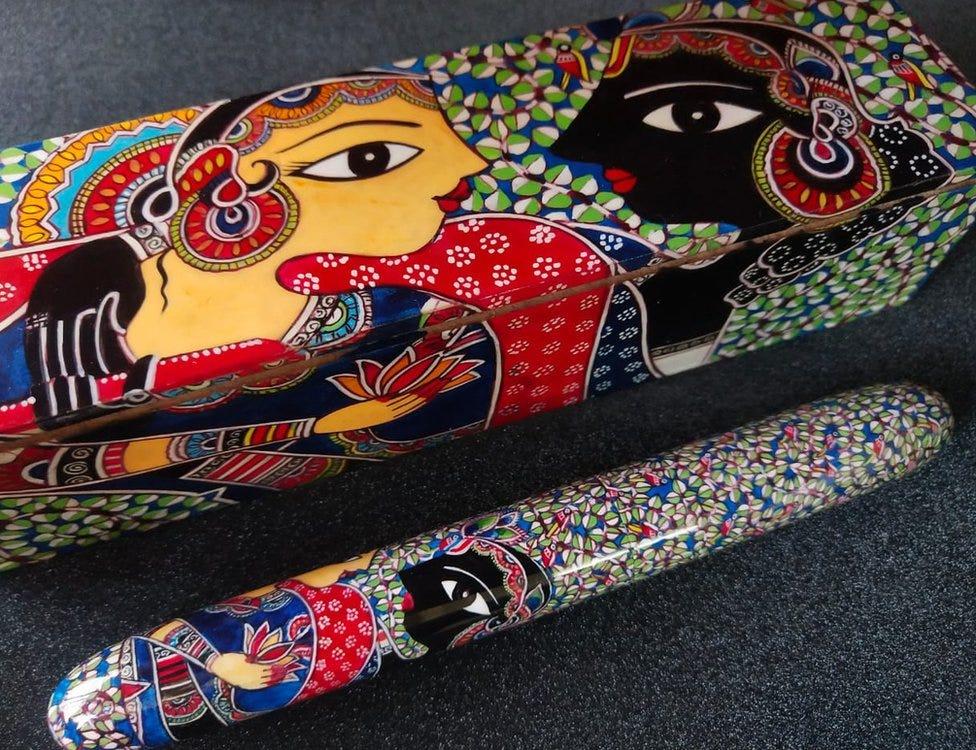 Lotus handmade pen