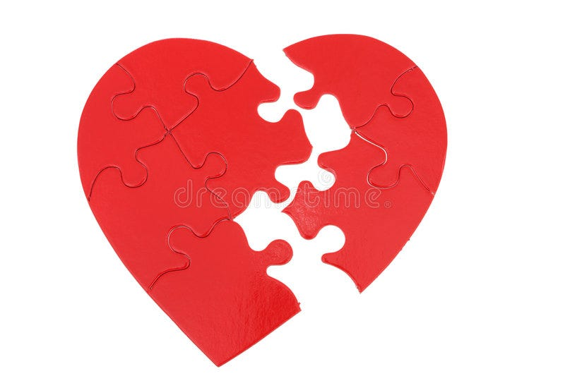 Picking up the Pieces stock photo. Image of depression - 3351426