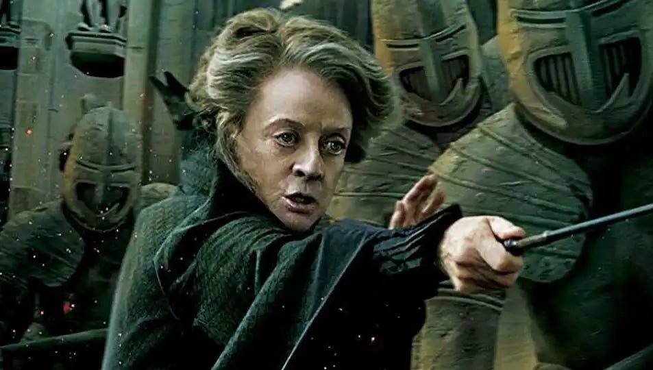 Professor McGonagall, solving data problems.