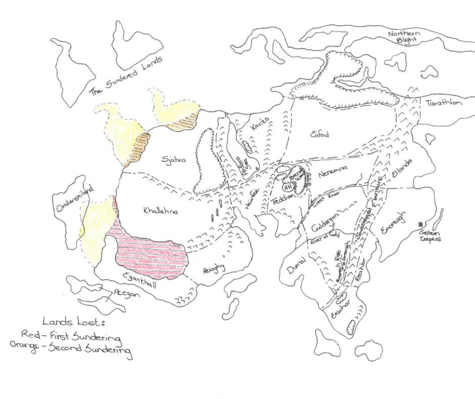 Map of Airtha-Eyrassa by Carin Marais