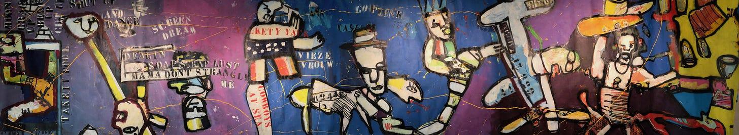 14m lang schilderij van Herman Brood