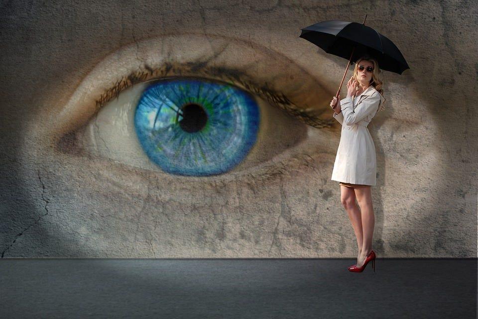 Girl, Pose, Model, Street, Art, Eye, Wall, Mystery