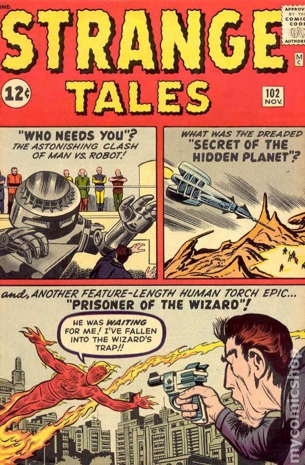 Strange tales comic books issue 102