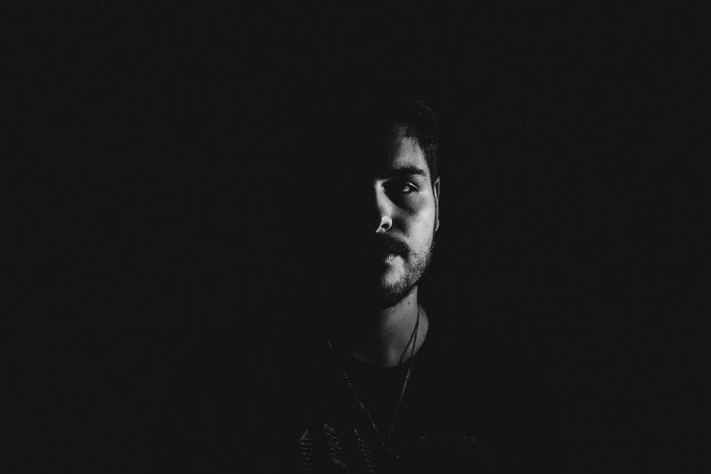 image of a man against a black background for article by Larry G. Maguire