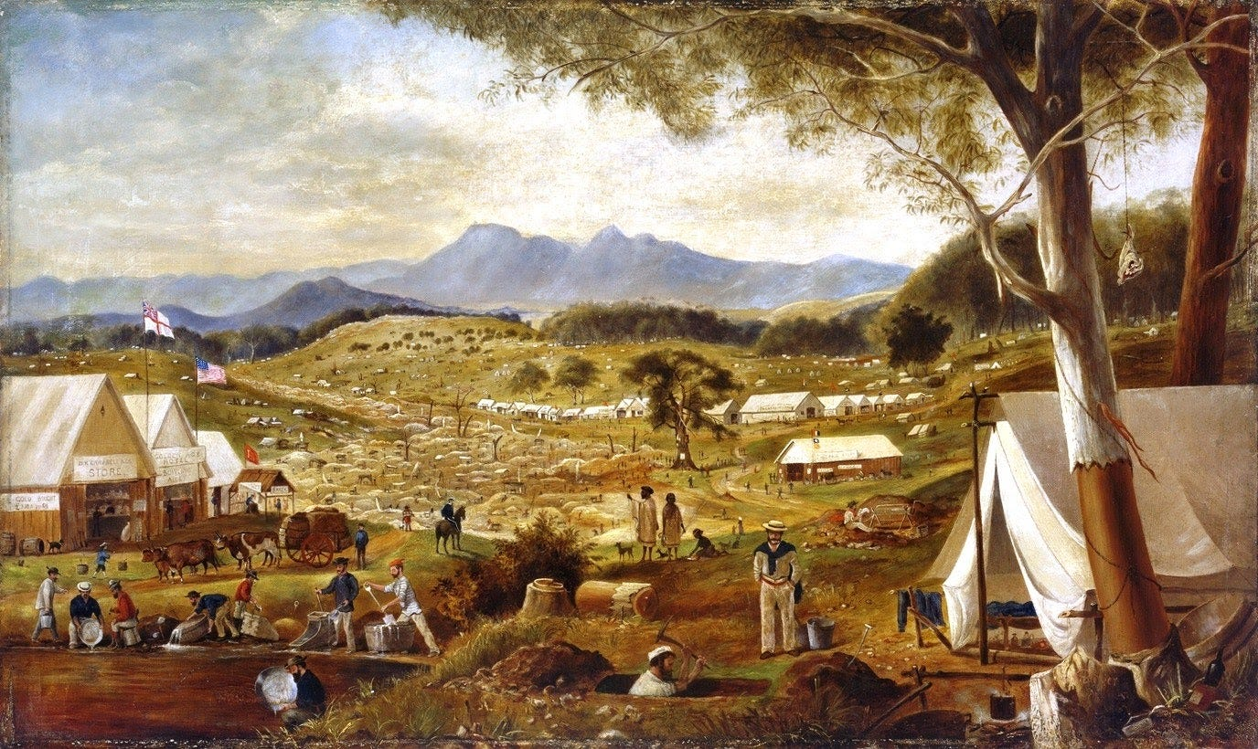 Australian gold rushes - Wikipedia