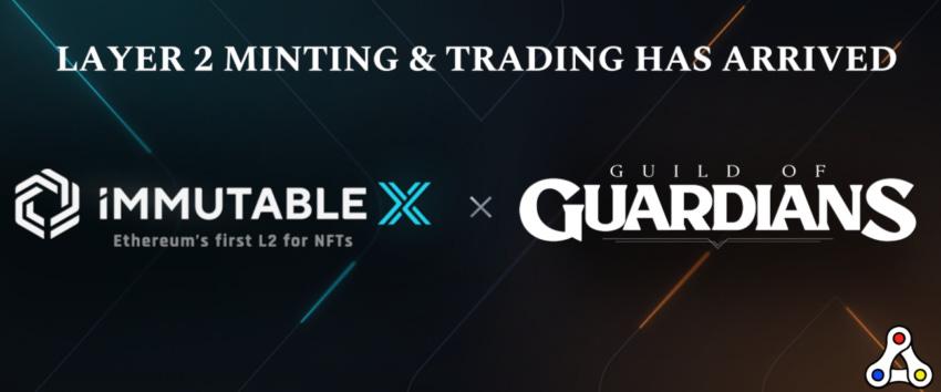 immutable x guild of guardians minting NFT