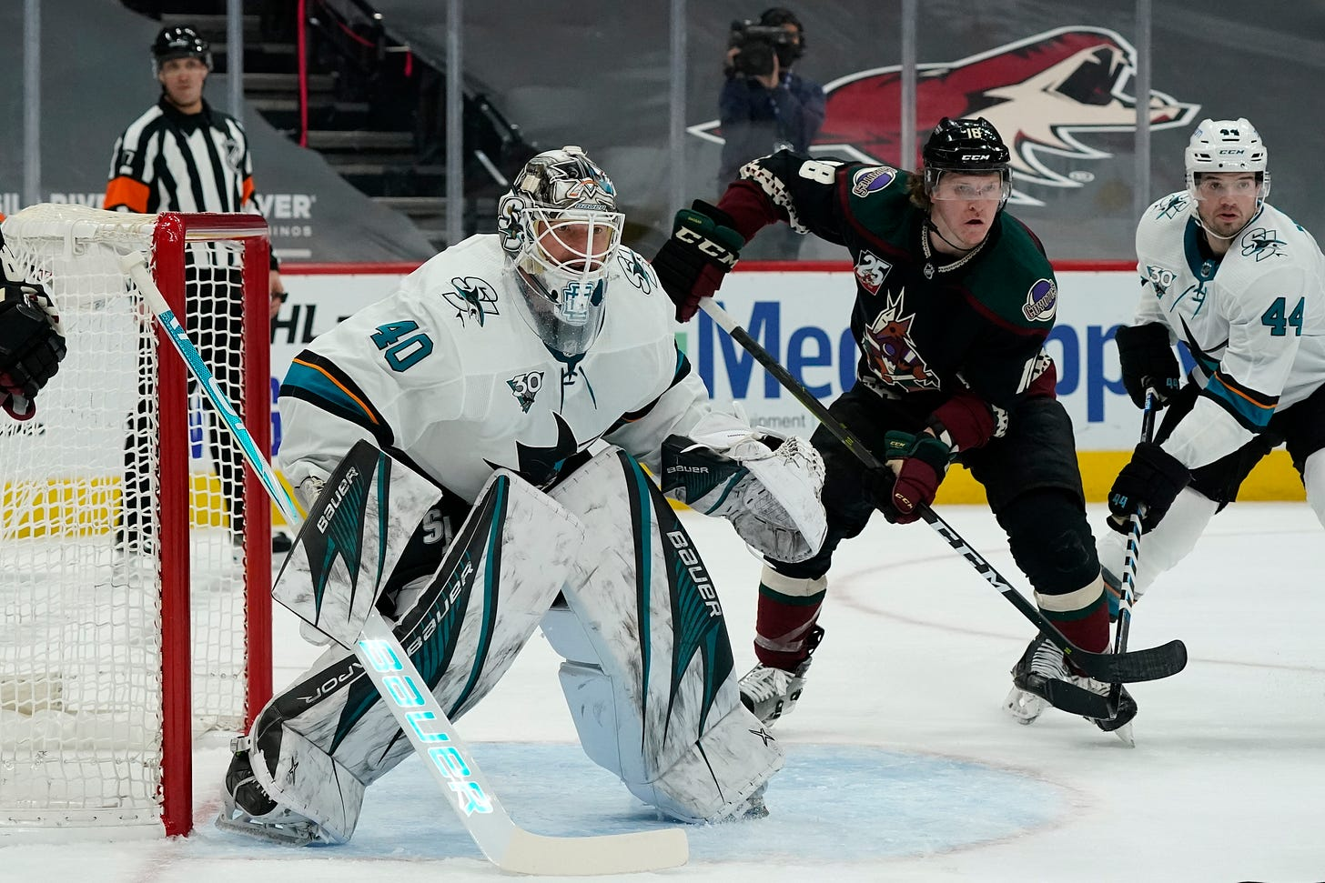 San Jose Sharks' Devan Dubnyk hopes to reboot NHL career