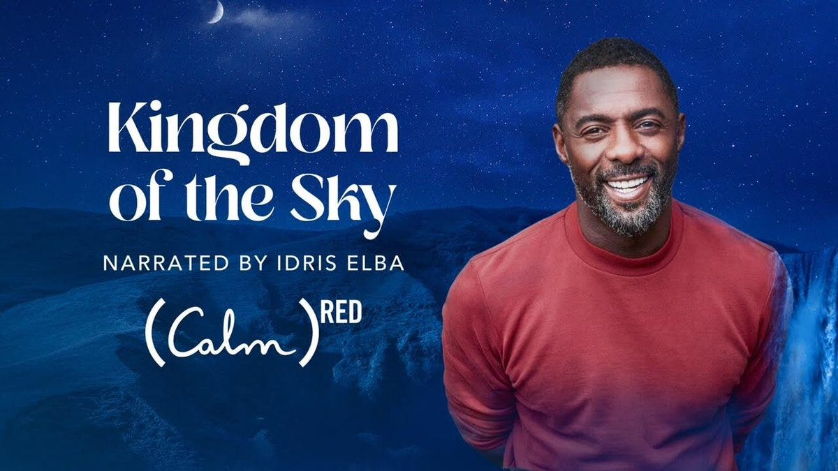 "Idris Elba on Twitter: ""Tonight, drift off to sleep by listening to my new Sleep  Story, Kingdom of the Sky. For every listen of Kingdom of the Sky, @Calm  will donate $1 ("
