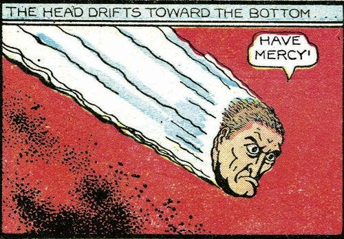 Stardust and the villain's head--Fletcher Hanks. 7.5/10 on the Scale of Obviousness.