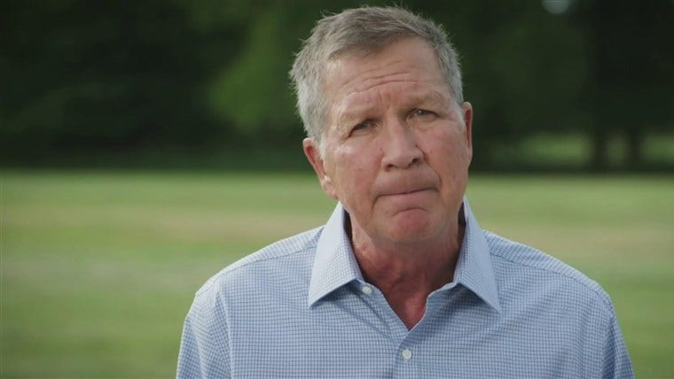 Kasich, a Republican, addresses DNC: 'These are not normal times'