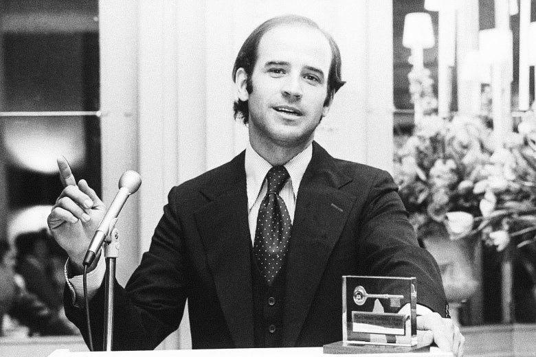 Joe Biden's 1972 Senate race: youth and change over the establishment.