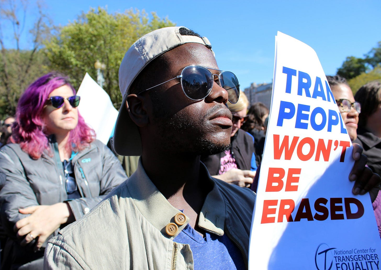 National Center for Transgender Equality TRANSGENDER RIGHTS RALLY in front of the White House at 1600 Pennsylvania Avenue, NW, Washington DC on Monday afternoon, 22 October 2018 by Elvert Barnes Protest Photography