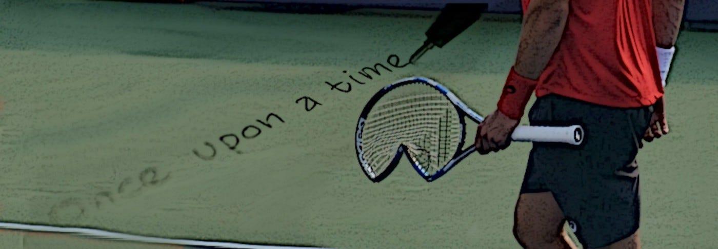 broken tennis racket