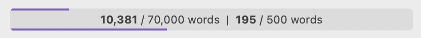 word count progress bar from Scrivener