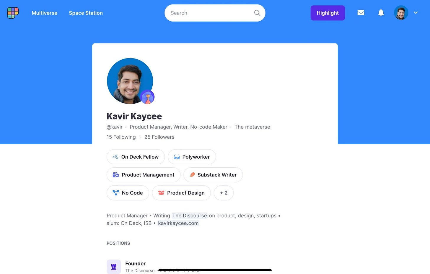 Polywork Profile