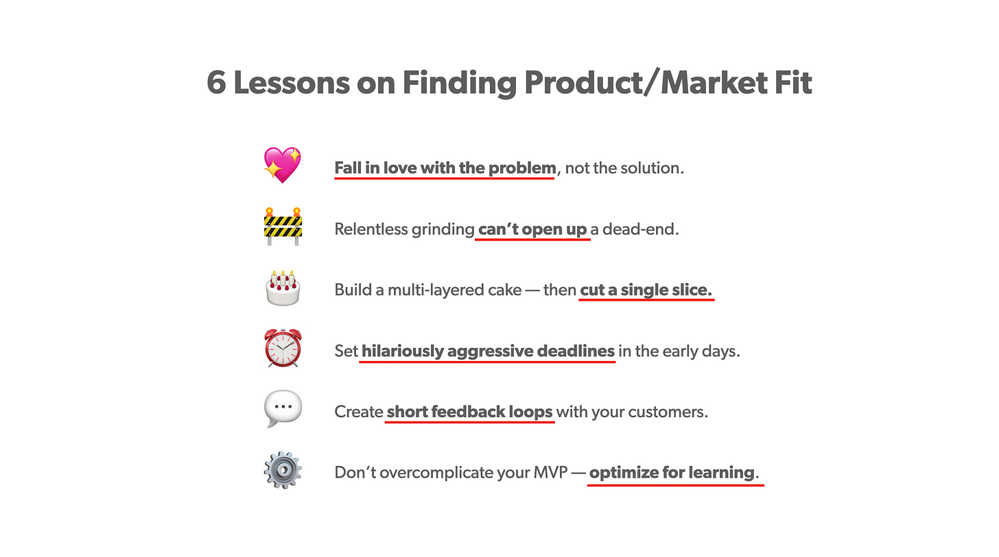 6 lessons on finding product/market fit image