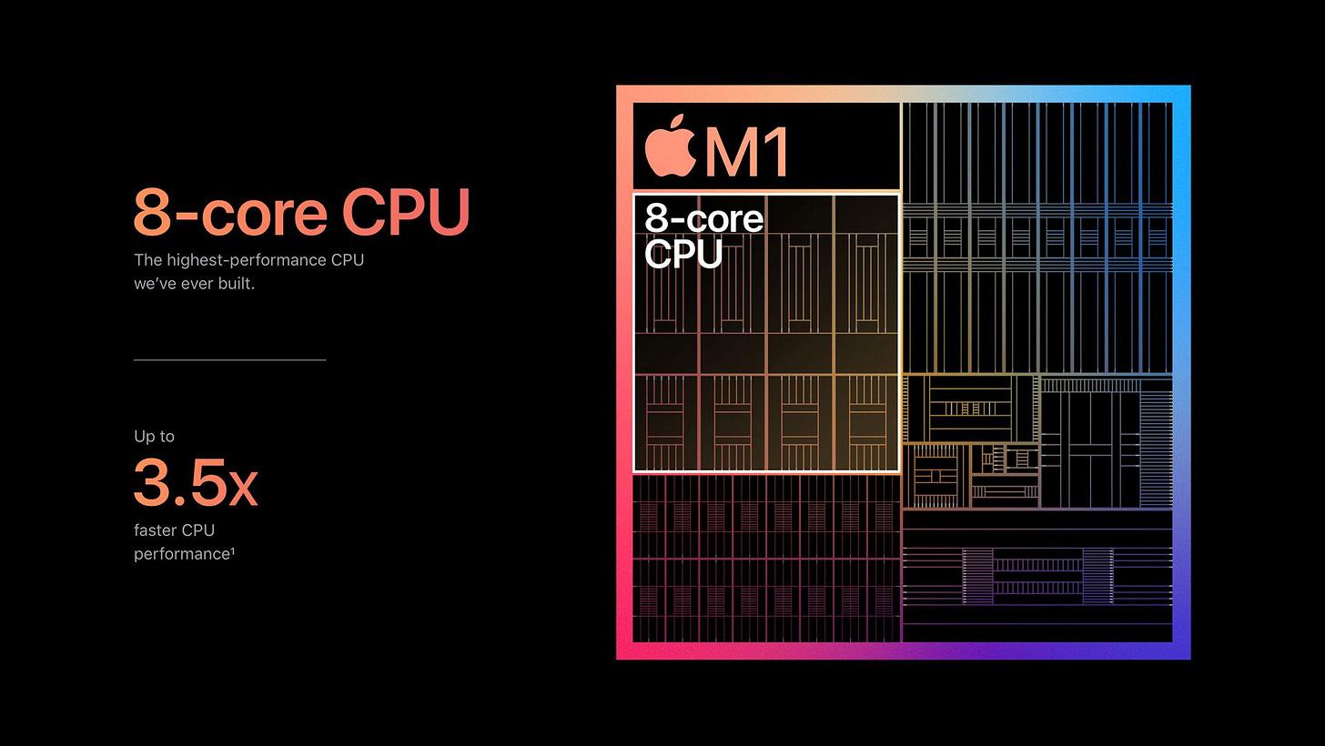 M1 chip specs high-end version characteristics