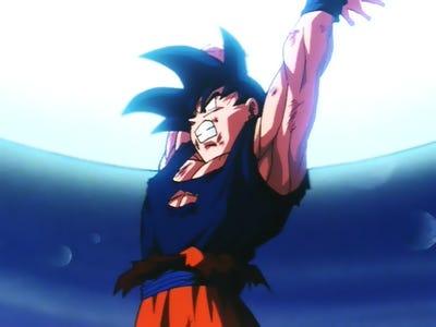 Goku, haciendo una Genki-Dama