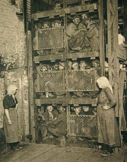 Italian coal miners working in Belgium