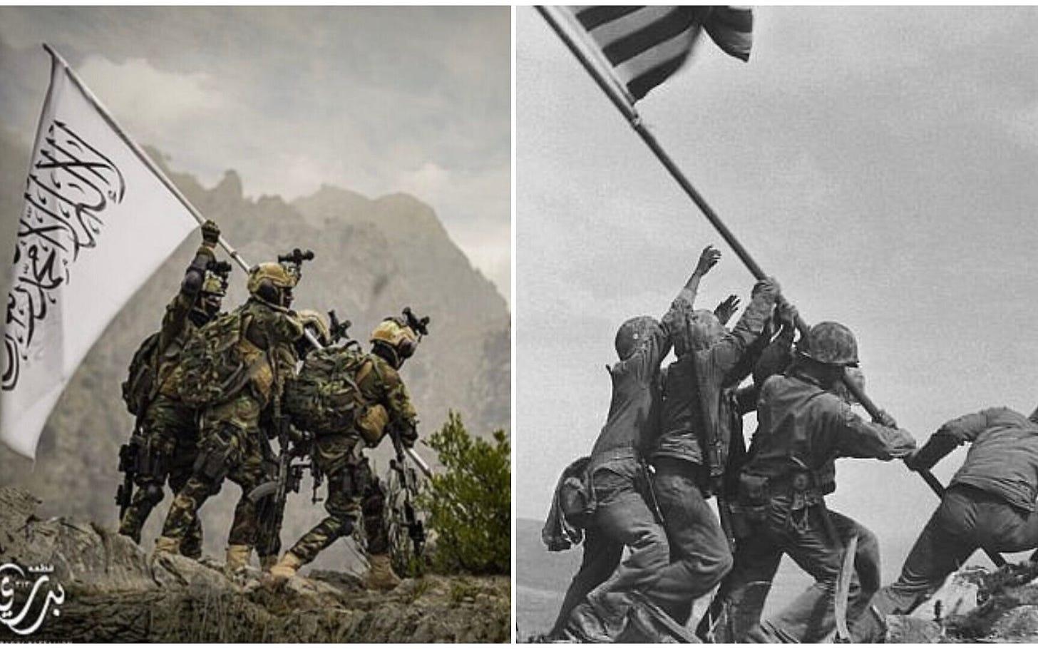 Taliban image said to mock iconic photo of US flag-raising on Iwo Jima |  The Times of Israel