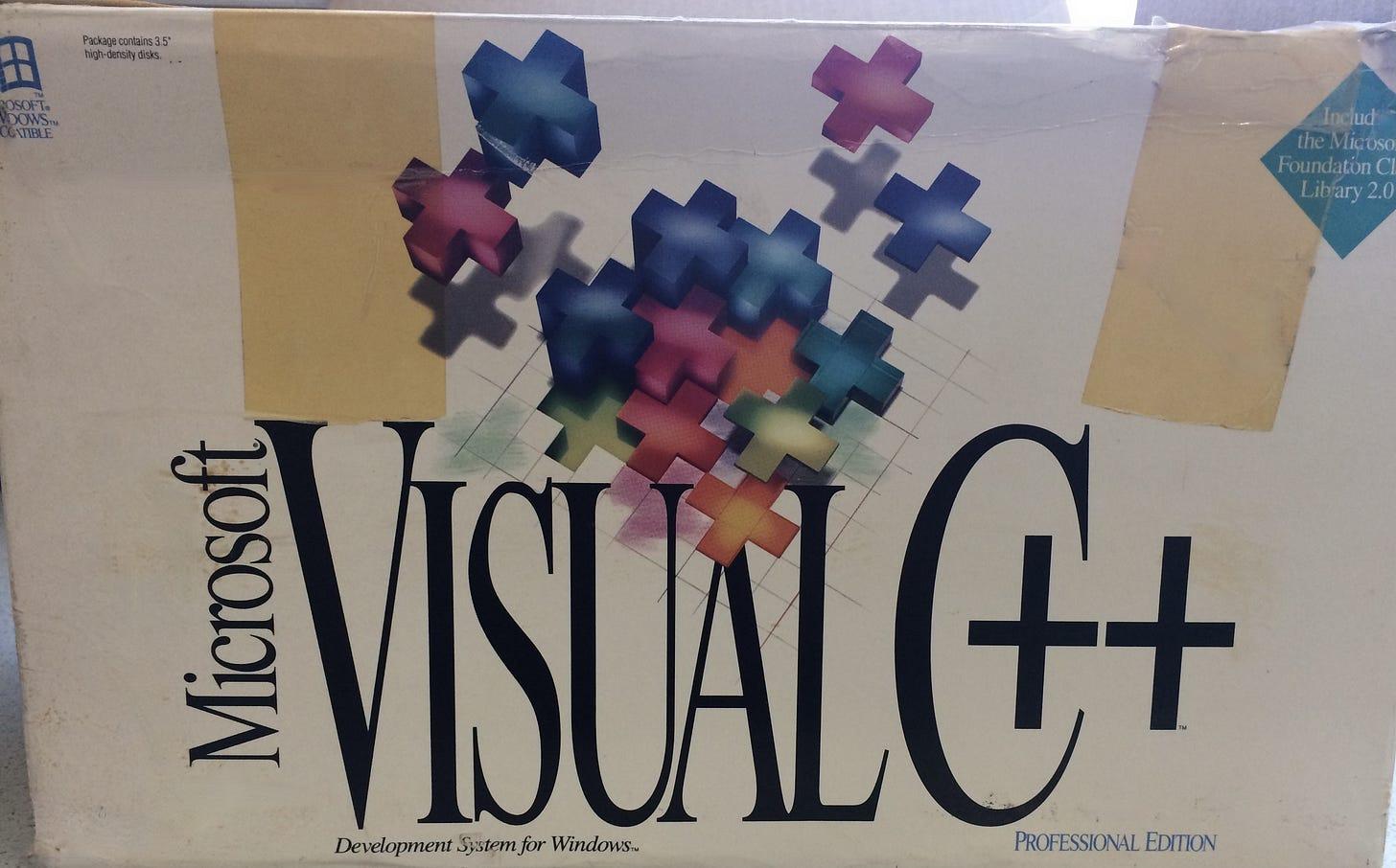 Visual C++ software box