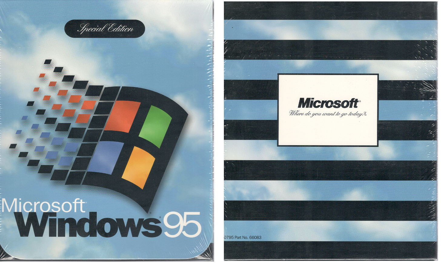 """Windows 95 software box. """"Special Edition"""""""