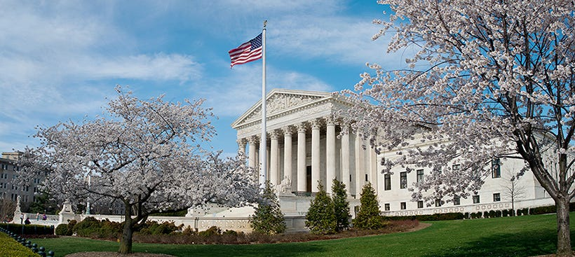 The Supreme Court of the United States building in Washington, D.C.