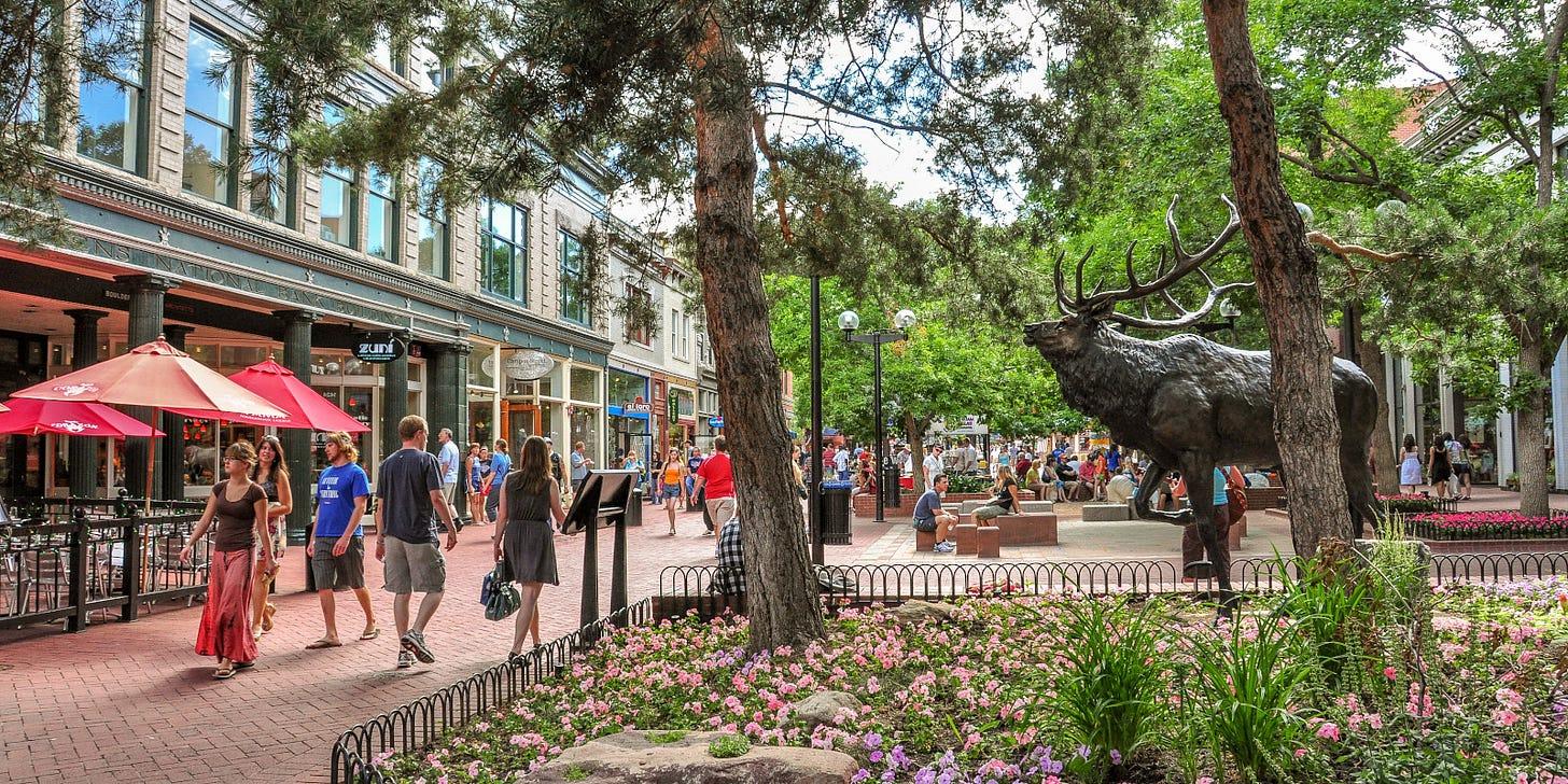 Pearl Street Mall – Boulder, CO | Downtown Boulder Mall Promenade