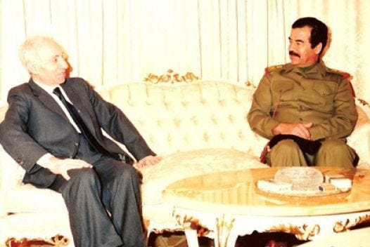 baath_party_founder_michel_aflaq_with_iraqi_president_saddam_hussein_in_1988
