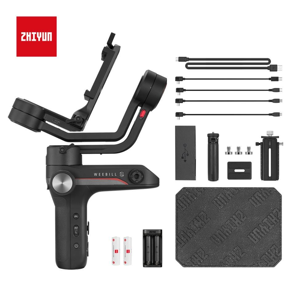 ZHIYUN Official Weebill S 3-Axis Gimbal Handheld Stabilizer Image Transmission for Canon Sony Etc Mirrorless Camera OLED Display