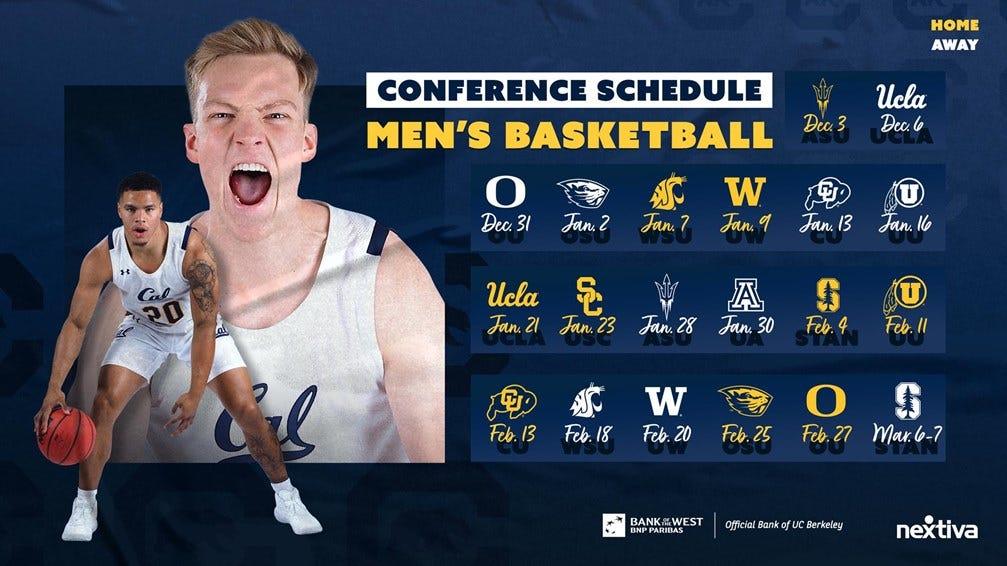 Cal Men's Basketball 2020-21 Pac-12 Schedule Update 2
