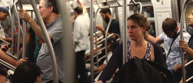 People on the train