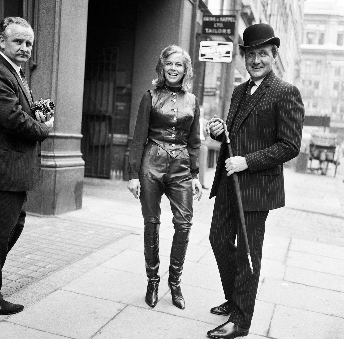 Honor Blackman and Patrick MacNee, 1963 - 1000Museums | Avengers girl,  Avengers, New avengers