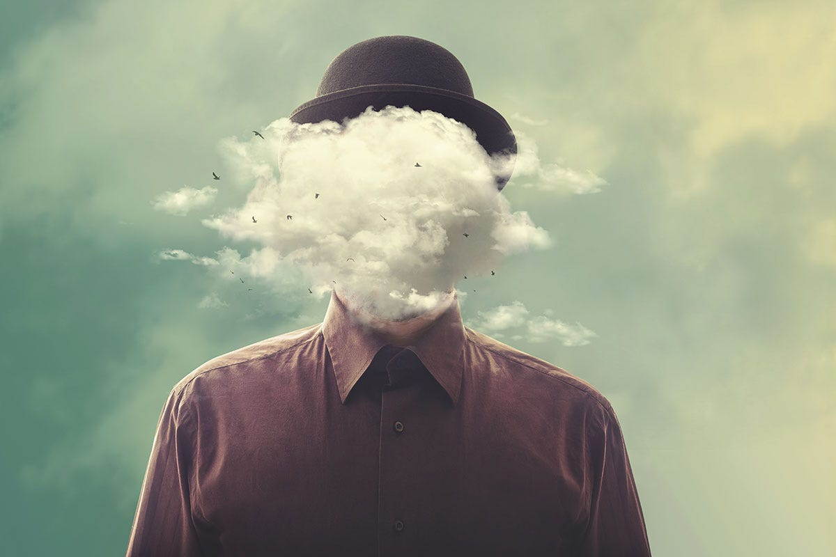 Man with Hot Hat and Head Vapor