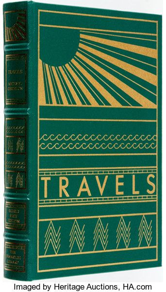 Michael Crichton. SIGNED. Travels. Franklin Library, 1988. Signed   Lot  #91128   Heritage Auctions