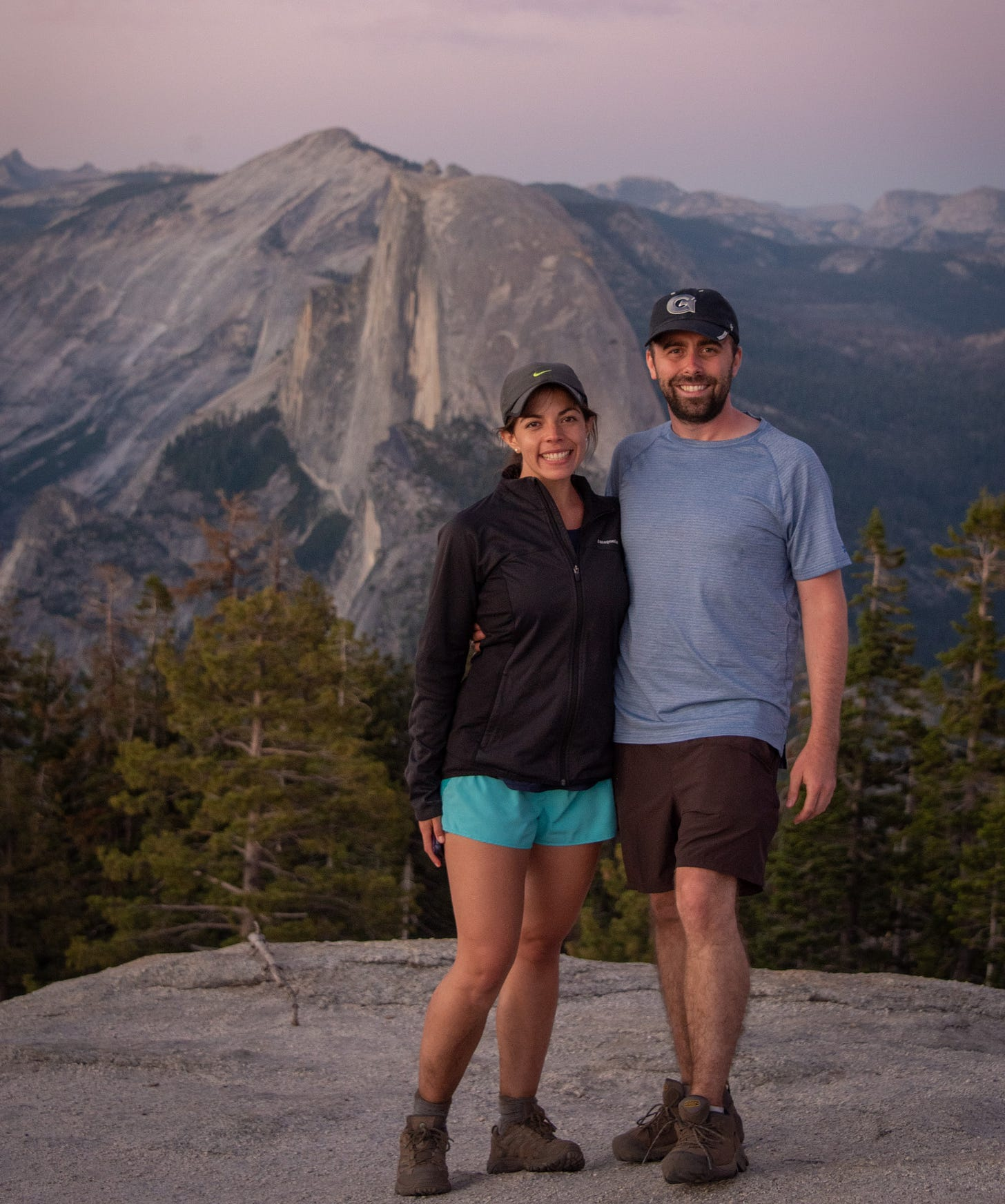 Jeff and fiancee hiking, travel mentors