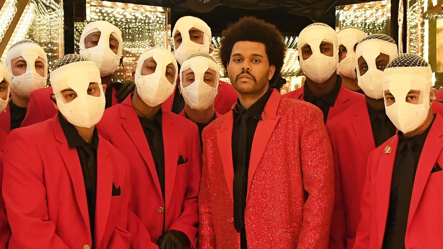 Image result for the weeknd halftime