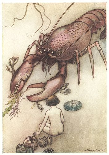 """""""Tom had never seen a lobster before.""""—P. 113."""