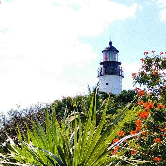 A lighthouse in Key West.