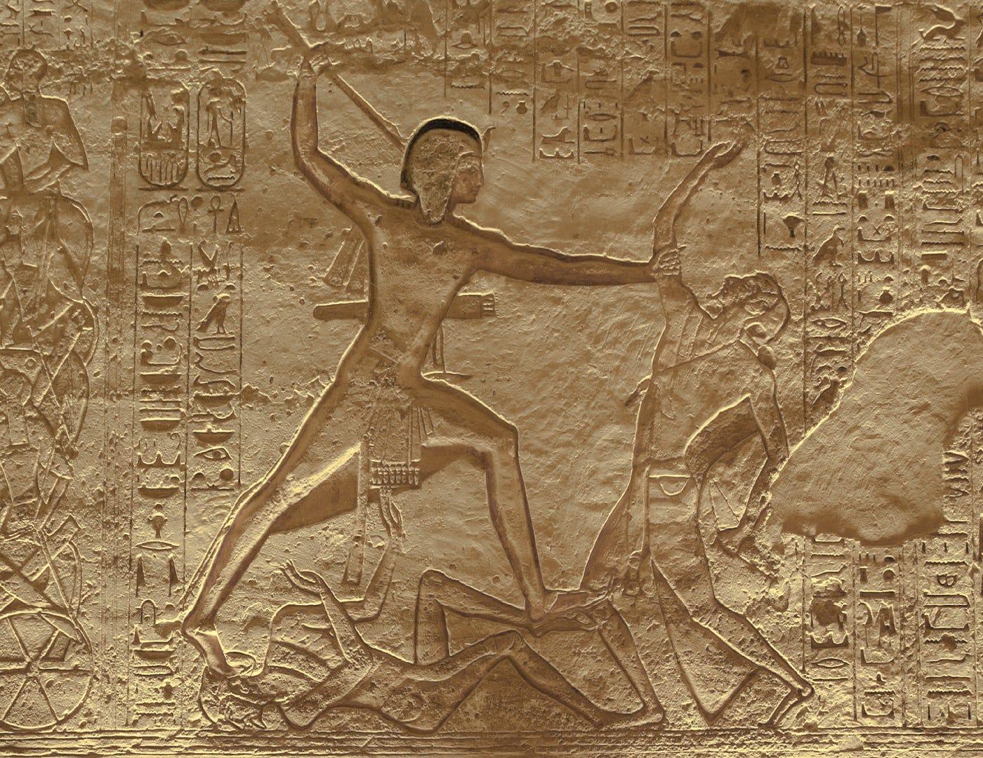 Image result for egyptian smiting scene