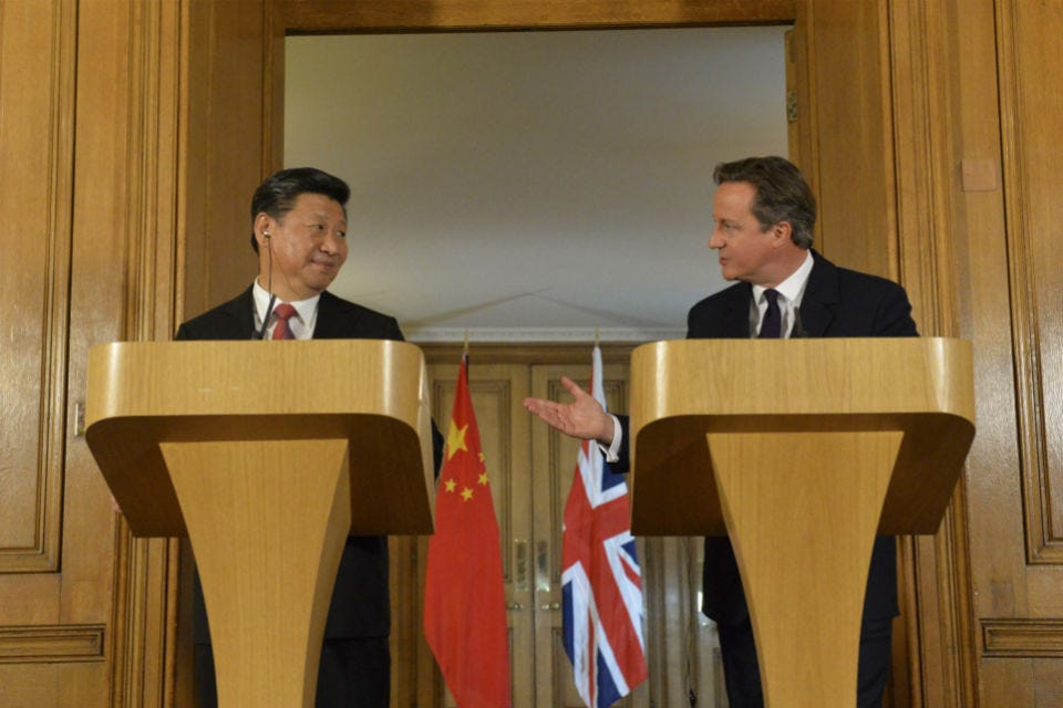 Joint press conference: David Cameron and President Xi Jinping - GOV.UK