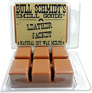 Bull Schmidt's Leather Jacket 6.4 oz Scented Wax Melts - Smells like a brand new WWII bomber jacket - 50+ hours of fragran...