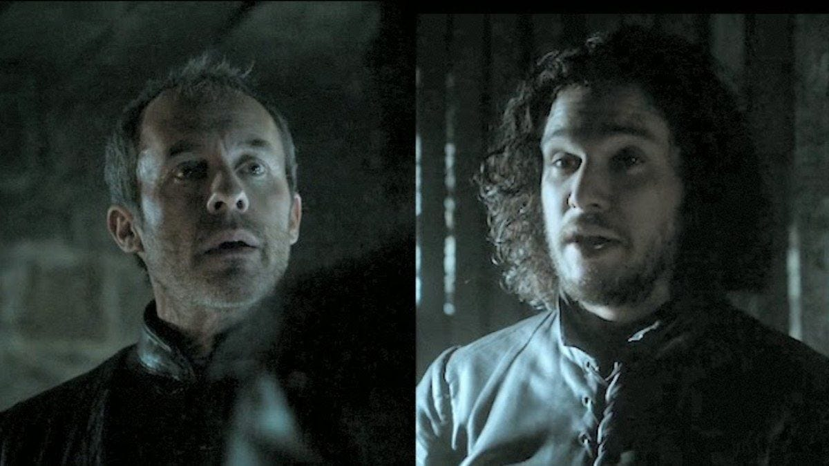 DVR Club: Game Of Thrones' Jon Snow and Stannis Baratheon: Should they  kiss? - | Baratheon, Jon snow, Fictional characters