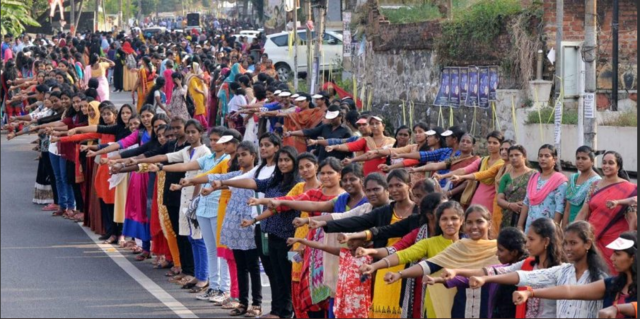 For the first time ever, millions of women came up to form a human chain from Kasaragod to Thiruvananthapuram in Kerala to fight for equal gender rights in India.
