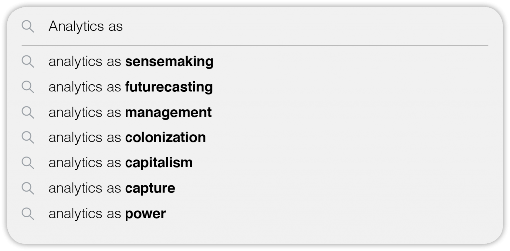 """google search autofill suggestions for """"analytics as"""""""