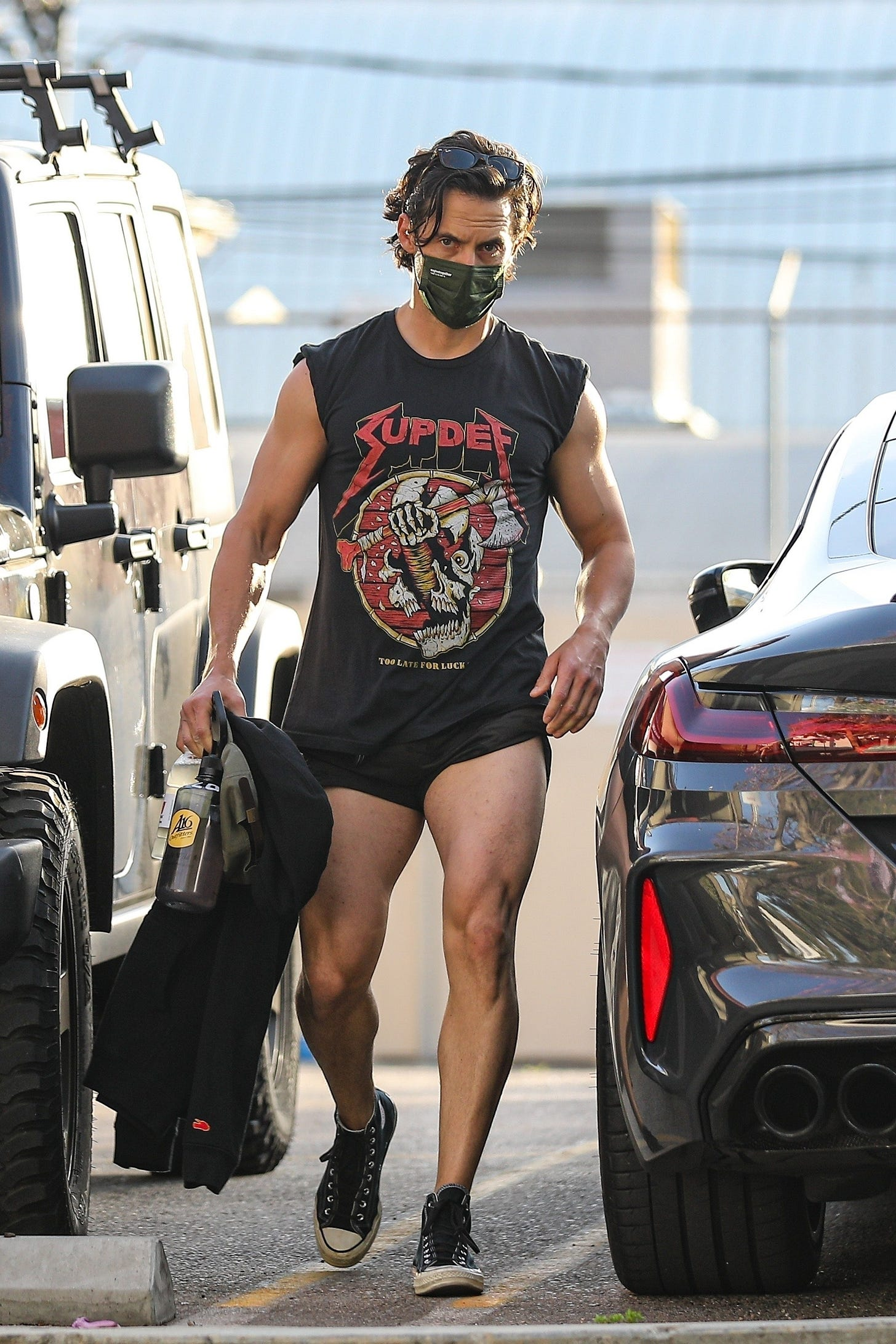 Milo Ventimiglia and His Extremely Short Shorts Have Entered the Great  Shorts Length Debate | GQ