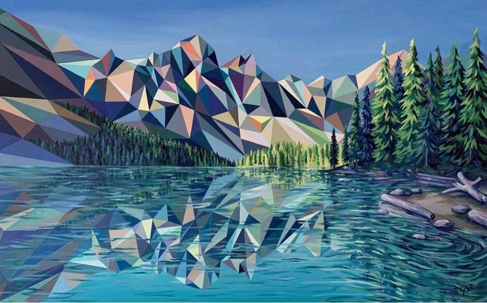 landscape painting by Elyse Dodge