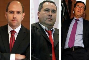 Sergio Jadue, Mauricio Etcheverry y Nibaldo Jaque